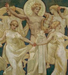 John Singer Sargent (American, 1856-1925), Apollo and the Muses, 1921. Oil on canvas, 283.21 x 428.62 cm. Museum of Fine Arts, Boston.