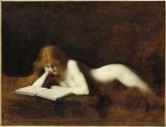 La liseuse Henner Jean Jacques (1829-1905) ,  peintre