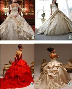 New Red Ivory Champagne Wedding Dresses Size 6 8 10 12 14 16 18 20 22 24 26 28   eBay