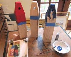 handmade wood buoys and more sea inspired DIY