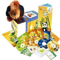 Kit audiovisuel PetraLingua chinois pour enfants : DVD, CD, livres, chansons, jeux, exercices interactifs, flashcards pourapprendre le chinois aux enfants de 3 à 10 ansen s'amusant ! Des cours de chinois faciles pour les enfants pour s'initier à la maison ou enseigner à l'école.