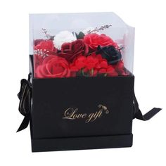 Beautiful big red soap roses in a gift box - perfect as a gift or decoration. Creative Wedding Gifts, Creative Decor, Artificial Flower Arrangements, Artificial Flowers, Flowers Australia, Rose Soap, Luxury Soap, Flower Oil, Love Gifts
