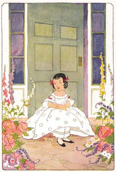 Jane Elizabeth on her doorstep by katinthecupboard, via Flickr    Janet Laura Scott, illustrator