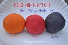Homemade KoolAid Playdoh- my grandma used to make this all the time for us growing up. Love it!