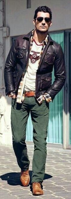 I like everything except the pants and the shoes….I would do dark blue jeans with a pair of black and white leather converse