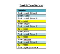 Terrible Twos workout :)