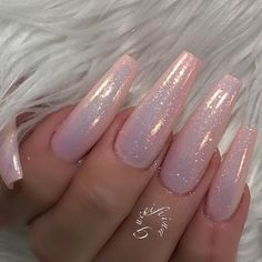 Likes, 24 Comments – ˢᴬᴺᴰᵞ ᴸᴱ〰ᴳᵁᶜᶜᴵ_ᶠᴵᴵᴺ… – Long Nails – Long Nail Art Designs Gorgeous Nails, Love Nails, How To Do Nails, Fun Nails, Pretty Nails, Shiny Nails, Perfect Nails, Acrylic Nails Natural, Cute Acrylic Nails