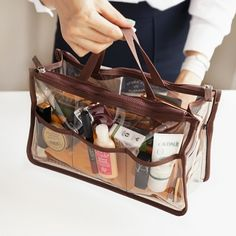 Transparent Dual Purse Organizer Bag Organization Organizing Hanger Clear