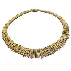 ORLANDO ORLANDINI Gold Diamond Necklace