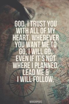 Lead me and I will follow.