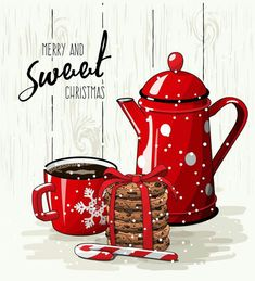"""USELESS LINK - but a nice tag to give with gift baking or a coffee-related gift at Christmas. I might write """"Have a"""" in front of the """"Merry and Sweet Christmas"""". Noel Christmas, Christmas Quotes, Winter Christmas, All Things Christmas, Vintage Christmas, Christmas Crafts, Christmas Decorations, Merry Christmas Pictures, Christmas Coffee"""