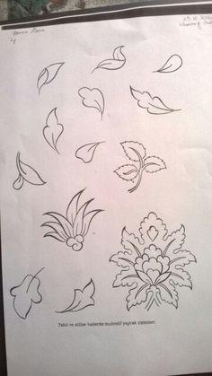 Tezhip desenleri Islamic Art Pattern, Arabic Pattern, Pattern Art, Arabesque, Alpona Design, Persian Motifs, Turkish Art, Hand Sketch, Doodle Patterns