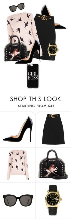"""""""Top Fashion Products Outfit!"""" by fuschiasilk ❤ liked on Polyvore featuring Gucci, Oasis, STELLA McCARTNEY, Gentle Monster, Rolex, Casetify, gucci and stellamcartney"""