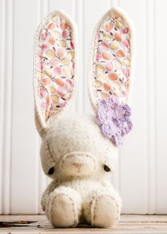Nellie Rabbit. Check out Lue and Sue's blog for more bunnies and patterns. :)