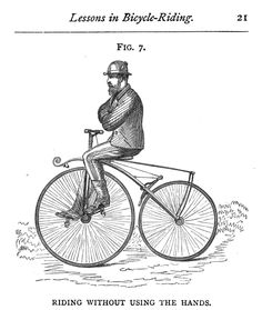 Fig 7 RIDING WITHOUT USING THE HANDS Lessons in Bicycle Riding page 21
