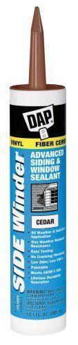 Dap 00823 Cedar Side Winder Advance Polymer Siding And Window Sealant 10.1-Ounce, 2015 Amazon Top Rated Thread Sealants #HomeImprovement