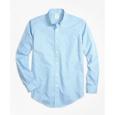 Brooks Brothers Non-Iron Milano Fit Micro Check Sport Shirt ($92) ❤ liked on Polyvore featuring men's fashion, men's clothing, men's shirts, men's casual shirts, light blue, mens light blue dress shirt, brooks brothers mens shirts, mens sport shirts, mens non iron dress shirts and mens wrinkle free shirts