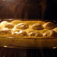 Édes tejfölben sült túrógombóc Recept képpel - Mindmegette.hu - Receptek Macaroni And Cheese, Waffles, Food And Drink, Cooking, Breakfast, Ethnic Recipes, Sweet, Crafting, Kitchen