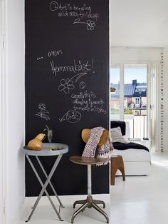 I really want a blackboard painted wall!