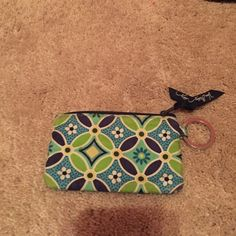 Very Bradley I.D. Holder Slightly worn but perfect for loose change or on your lanyard for your I.D. Vera Bradley Accessories Key & Card Holders