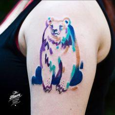 Magdalena Bujak aka @popielaya // #bear #polarbear #beartattoo #color #colorful #colortattoo #art #arttattoo #paint #painttattoo #ink #inklife #inkminerstattoo #inkstagram #inkgirl #tattoo #tatuaz #tatuagem #tattoostudio #studiotattoo #kato #katolove #katowice #katowicetattoo #silesia #silesiatattoo info/bookings--> inkminers.tattoo@gmail.com
