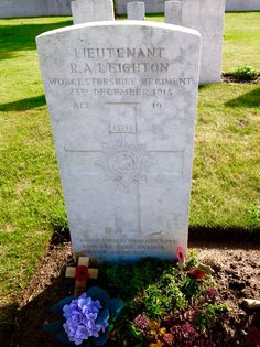 The grave of Vera Brittain's (Testament of Youth) fiancé.