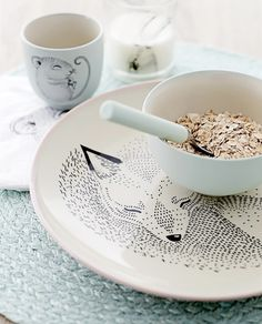 White tableware with fox | Bloomingville | #mijnservies