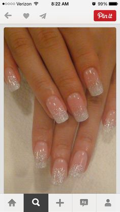 False nails have the advantage of offering a manicure worthy of the most advanced backstage and to hold longer than a simple nail polish. The problem is how to remove them without damaging your nails. Marriage is one of the… Continue Reading → Fancy Nails, Love Nails, How To Do Nails, My Nails, Sparkly Nails, White Sparkle Nails, Blush Nails, Pink Clear Nails, White Gel Nails