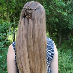 4th of July hair - half up star by @yiyayellow :)