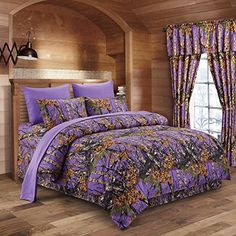 The Woods Purple Camouflage Full 8pc Premium Luxury Comforter, Sheet, Pillowcases, and Bed Skirt Set by Regal Comfort Camo Bedding Set For Hunters Cabin or Rustic Lodge Teens Boys and Girls Regal Comfort http://www.amazon.com/dp/B017WEQ3BG/ref=cm_sw_r_pi_dp_qL8twb1Q1CXRP