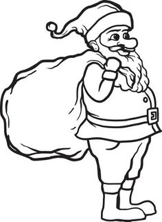 christmas santa claus coloring pages free printable - 439×599