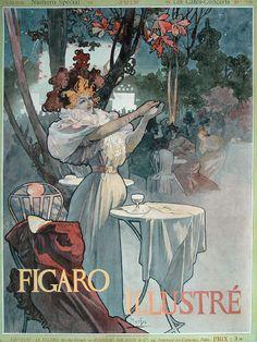 Art Nouveau poster by Alphonse Mucha, 1898 Art Nouveau Mucha, Alphonse Mucha Art, Art Nouveau Poster, Vintage Posters, Vintage Art, Paris 1900, Illustration Art Nouveau, Art Français, Jugendstil Design