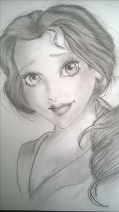 Belle/pencil drawing