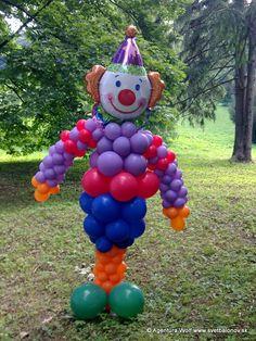 Balónová postava - šašo veľký, 2m
