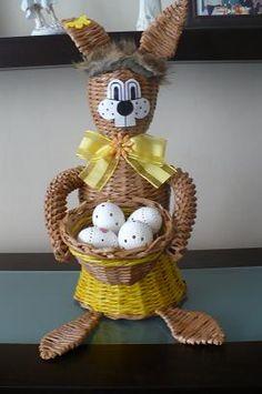 Veľkonočný zajac - pletenie z papiera