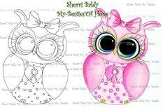 INSTANT DOWMLOAD Digital Digi Stamps Big Eye Big Head Dolls Digi  My Besties Bestie Oh Hope Owl Img915 By Sherri Baldy