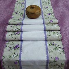 dekoračný obrus, stredový behúň, dlhý obrus do fialova Towel