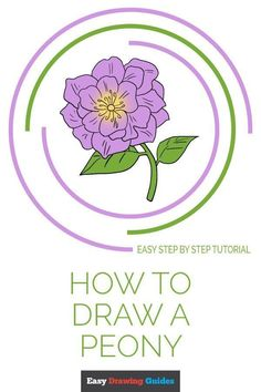 Learn to draw a peony. This step-by-step tutorial makes it easy. Kids and beginners alike can now draw a great looking peony. Flower Drawing Tutorials, Drawing Tutorials For Kids, Drawing For Beginners, Drawing Ideas, Drawing Tips, Drawing Stuff, Art Tutorials, Peony Drawing, Nature Drawing