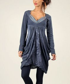Blue Surplice Bubble Dress by Angels Never Die #zulily #zulilyfinds
