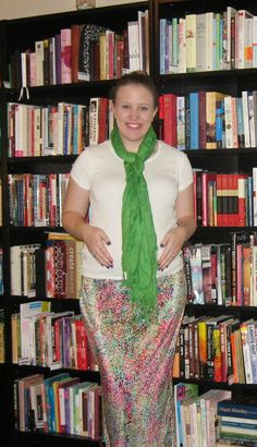 Loving the modest styles and this green scarf.