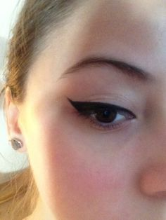 Using Eyeliner Pencil to create 'Eyeliner Wings' is a great Modern look,and also gives the Illusion of False Eyelashes (without actually having to wear False Eyelashes)
