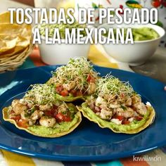 Easy chicken recipes info are available on our web pages. Read more and you wont be sorry you did. Tostada Recipes, Fish Recipes, Seafood Recipes, Appetizer Recipes, Mexican Food Recipes, Cooking Recipes, Healthy Recipes, Cooking Bacon, Cooking Ideas