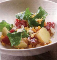 Recepten - Slaatje van aardappelen met rauwe ham