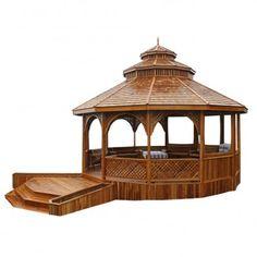Pavillon Monteverde aus Teakholz www.tp-moebel.de