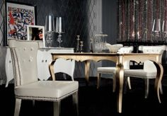 """Armani White Leather Dining Chair by VIG. $650.00. Color: Other Dimensions: W23"""" x D23.5"""" x H36"""" Manufacturer: Modern Furniture by VIG"""