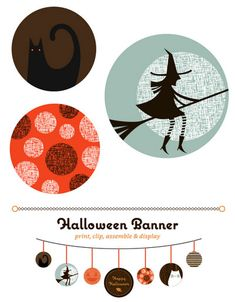 Free Printable Halloween Garland Banner - not so bad Halloween Boo, Holidays Halloween, Halloween Crafts, Halloween Clothes, Halloween Printable, Halloween Garland, Halloween Decorations, Hallowen Ideas, Molde
