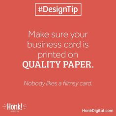 #DesignTip: Even the best business card design can look terrible when printed on low-quality paper!  If you're trying to save money don't settle for cheap online services like Vistaprint shop around! Quality doesn't have to be expensive talk to us to get a quote for your next set of business cards.  #graphicdesign #graphicdesigner #webdesign #webdesigner #typography #branding #brand #rebrand #logodesign #logos #logodesigner #printdesign #mycreativebiz #entrepreneur #entrepreneurs…