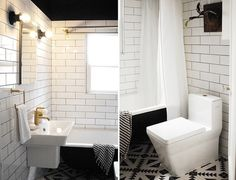 Capree's amazing bathroom remodel reveal! Check out what a huge transformation she made.