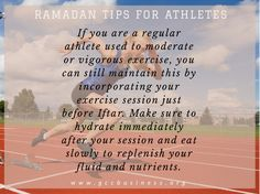 If you are a regular athlete used to moderate or vigorous exercise, you can still maintain this by incorporating your exercise session just before Iftar. Make sure to hydrate immediately after your session and eat slowly to replenish your fluid and nutrients. #healthyliving #iftar #dubai #mydubai #gccnews #gccbusinesscouncil #gulf #middleeast  #oman #muslims #prayers #fasting  #eid #ramadanTips #tips #family #islam #nutrients #exercise #athlete