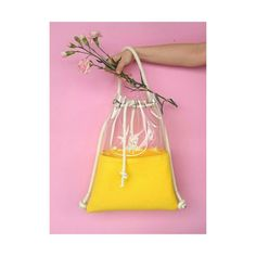 Clear backpack Bucket Bag Tote Bag Felted bag felt by YPSILONBAGS